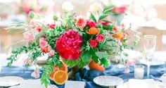 Denver Colorado wedding venue - Villa Parker - dinner on the patio, outdoor reception, tablescape, centerpieces