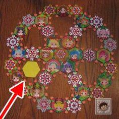 アイカツ アイロンビーズ クリスマス tapestry plate