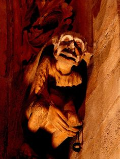 Gargoyle on the Notre Dame Cathedral in Paris #notre #dame