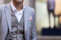 pocket details // #menswear #3piece #classy
