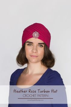 Heather Rose Turban - Free & Easy Crochet Pattern To Follow