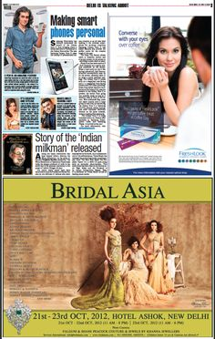 "Advertisement in Delhi Times 14.10.2012    Looking forward to see you all at our booth ""Frozen In Time- Luxury Wedding Photography"" in Bridal Asia, Hall B, 21-22-23 Oct, 2012, Hotel Ashok, New Delhi    E: contactfrozenintime@gmail.com"