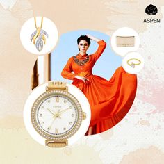Because glamour never fails to impress! #aspen #watch #gold #feminineexclusive
