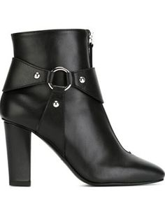 double zip ankle boots