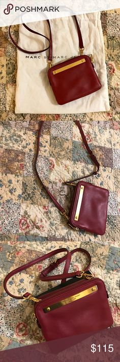 Marc by Marc Jacobs Purse- great condition! Great condition, received as a gift and rarely used, maroon/oxblood, 3 sections with card pocket in front Marc by Marc Jacobs Bags Crossbody Bags