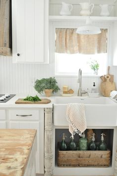 Open Shelf Under the Sink #farmhouse