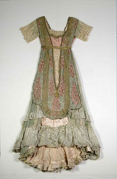 Evening dress Design House: Callot Soeurs  (French, active 1895–1937) Designer: Madame Marie Gerber (French) Date: 1910–12 Culture: French Medium: Silk, metallic, pearl beads, linen Accession Number: 2009.300.7116