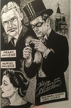 The Phantom Detective, by Frank Hamilton Richard Curtis, Pulp Art, Pulp Fiction, Comic Strips, Savage, Detective, Novels, Comics, Hamilton