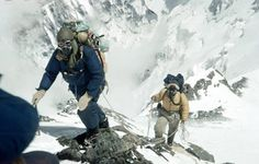 Sir Edmund Hillary and Tenzig Norgay on the final approach