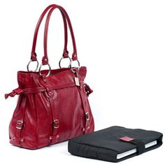 Catalina Computer Handbag made from the world's finest top grain vaquetta Colombian cowhide leather http://www.theelegantoffice.com