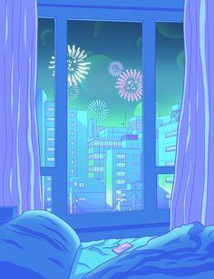 Man Cave Bathroom 637470522244340783 - Tokyo Summer Dreams Acrylic Tray by Elora Pautrat – Medium 15 x Source by noukaries Anime Scenery Wallpaper, Aesthetic Pastel Wallpaper, Aesthetic Backgrounds, Aesthetic Wallpapers, Aesthetic Japan, Neon Aesthetic, Aesthetic Anime, Kawaii Wallpaper, Cartoon Wallpaper