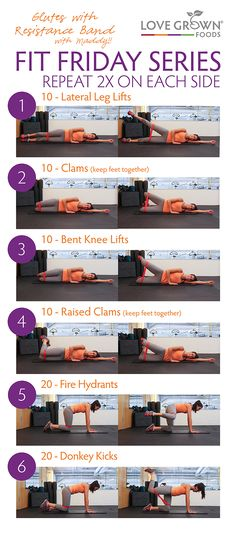 Butt-lifting workout! Do this with or without the resistance band. If you don't use the resistance band increase the number of reps from 10 to 15 and from 20 to 30. #FitFriday #LoveGrownFoods