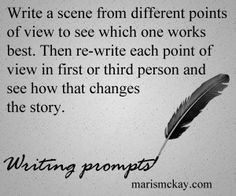 Write a scene from different points of view to see which one works best.