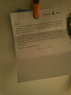 Write a letter to your spouse for 25 days in December,  starting with the 1st and ending with Christmas day. Put them in a different spot each day so in the morning it becomes a fun way to start their day. Letter can be anything. Perfect for a spouse whose love language is words of affirmation <3 have fun! At the end put them together in a scrap book!