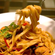 """Chicken Tequila Fettuccini 