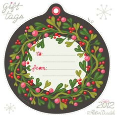 Free printable holiday gift tags, by Orange You Lucky!, Part 2
