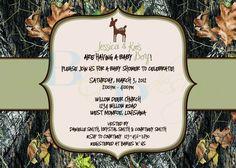 Hahaha, so fitting!!!!  Mossy Oak Camo with Deer - Baby Shower Invitation. $15.00, via Etsy.