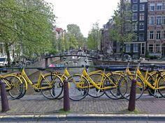 Yellow Bike rental,Amsterdam