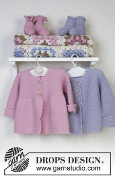 Jacket, socks, soft toy and blanket in Alpaca  Free pattern by DROPS Design.