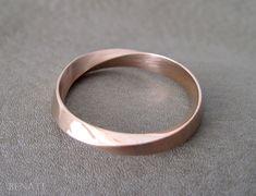 Wedding Ring 4.5mm Mobius Wedding Band Wide Mobius Wedding
