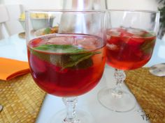 Sangria Rosé, Alcoholic Drinks, Cocktails, Food And Drink, Bartenders, Wine, Happy Hour, Desserts, Recipes