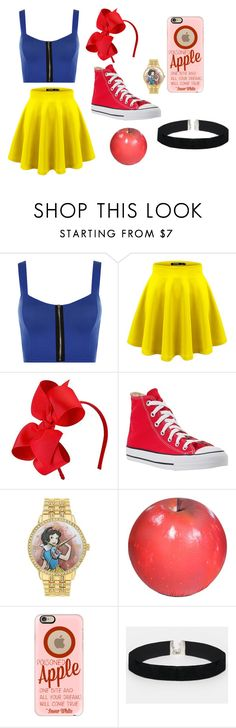 """""""Modern Snow White"""" by lauren53103 on Polyvore featuring WearAll, Hanna Andersson, Converse, Disney, Baleri Italia, Casetify, ASOS, modern, snowwhite and Costume"""