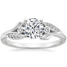 18K White Gold Jasmine Diamond Ring from Brilliant Earth