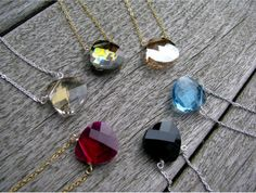 Gemstone Necklaces (cute fir bridesmaid gifts)