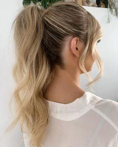 """Jody Callan Hair on Instagram: """"Soft modern high ponytail 🤍 My beautiful bride Tara 🤍 No extensions all her own hair ( fine long hair that holds wave we went for a…"""" Wedding Ponytail Hairstyles, Bride Hairstyles, Soft Waves, High Ponytails, Beautiful Bride, Extensions, High Fashion, Hair Beauty, Long Hair Styles"""