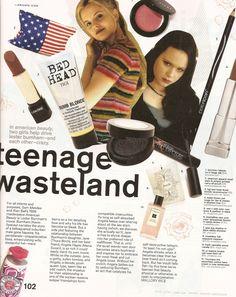 Nylon Magazine Private Icon - inspired by Thora Birch and Mena Suvari as Jane Burnham and Angela Hayes in American Beauty