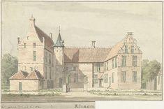Gezicht op de havezate Rhaan bij Hellendoorn, van voren, Cornelis Pronk, 1732
