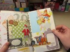 A flip through of my collaged list journal - YouTube