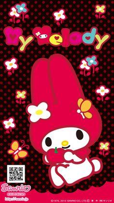 My Melody Wallpaper, Kawaii Wallpaper, Iphone Wallpaper, Hollow Kitty, Disney Wall Decals, Hello Kitty My Melody, Sanrio Characters, Little Twin Stars, Ipad