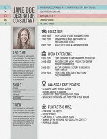 Creative Resumes Gallery  Resume Baker  Part   Animation  Job