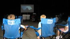 How about a movie in the backyard?  (Wish the mosquito magnet was more effective though!)