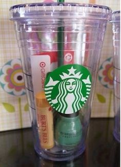 Cute! I could personalize a cup like this with my Cameo and then fill with random goodies.