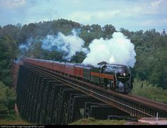RailPictures.Net Photo: NW 611 Norfolk & Western Steam 4-8-4 at Lynchburg, Virginia by Bob Lyndall