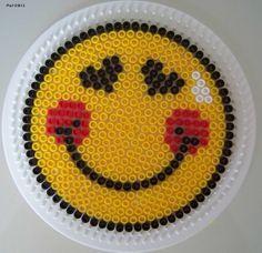 Smiley strijkkralen