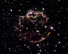 Cassiopeia A-- The colorful aftermath of a violent stellar death