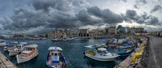 This is the old port of Heraklion which houses boats and yachts, and its history is as old as the city of Heraklion. Set against the city of Heraklion and the Venetian dockyards! Heraklion, Old Port, Crete, Venetian, Old Things, Boat, History, Photograph, Travel