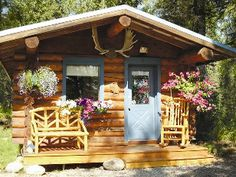 alaskan log cabin