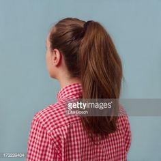 girls ponytail back view - Google Search