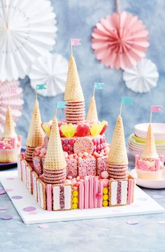 Get the kids in the kitchen these school holidays and create this ultimate Princess Palace Cake! Princess Birthday, Princess Party, Easy Princess Cake, Birthday Party Decorations, Birthday Parties, 4th Birthday, Castle Birthday Cakes, Princess Palace, Savoury Cake