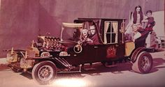 The Munster Coach with the Cast by George Barris