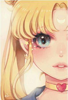 Cute Vintage Toys: Kawaii Pastel Fairy Kei - Sailor Moon // by Sailor Moons, Sailor Moon Crystal, Arte Sailor Moon, Sailor Moon Fan Art, Sailor Moon Usagi, Sailor Venus, Film Manga, Manga Art, Manga Anime