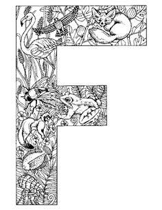 Coloriage alphabet - animaux pour enfants, dessins à colorier alphabet - animaux
