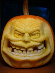 Pumpkin sculptures! by DwayneRushfeldt.deviantart.com on @deviantART