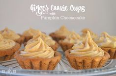 GINGER COOKIE CUPS WITH PUMPKIN CHEESECAKE via @ButterGirls