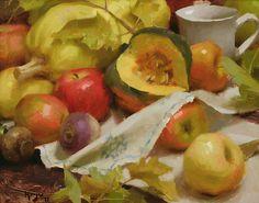 Winter Squash with Apples by Daniel Keys Oil ~ 11 x 14