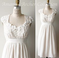 Look how pretty!  Enchantment Dress Ivory Lace by AmandaArcher on Etsy, $239.00